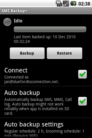 [Android]SMS Backup+ - 将短信同步备份到 Gmail 1